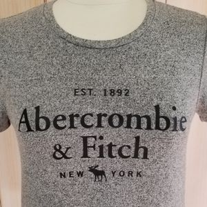 Abercrombie & Fitch Stretchy Short Sleeve Logo Top